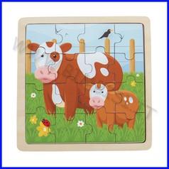Puzzle mamma e cucciolo cm 30x22 mucche fino ad esaurimento