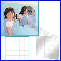 Specchio di sicurezza h cm.50 quadrettat