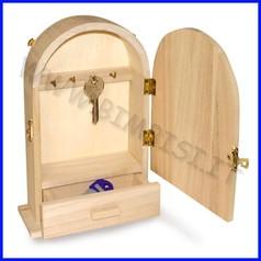 Supporti in legno: cassetta portachiavi