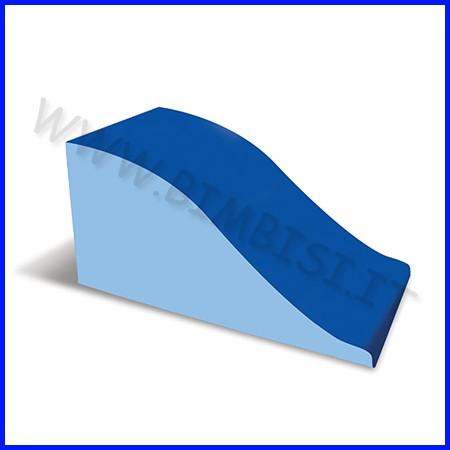 Nuvola ecopelle h60 cm onda cm.120x60x60h - azzurro/blu