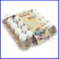 Uova bianche in plastica da decorare conf. 20 pz