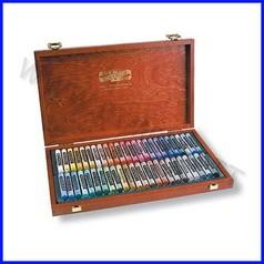 Pastello morbido artisti kin - cassetta legno 48 pz assortiti
