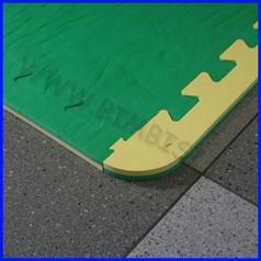 Pavimentazione antitrauma eva bicolore giallo/verde 98.3 x 98.3 cm sp.1.5 cm