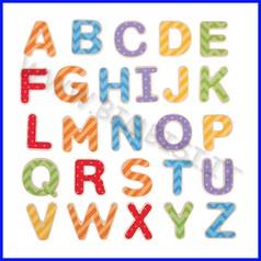 Lettere magnetiche - maiuscole pz. 49
