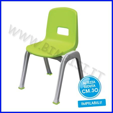 Sedia h. cm.30 - verde chiaro