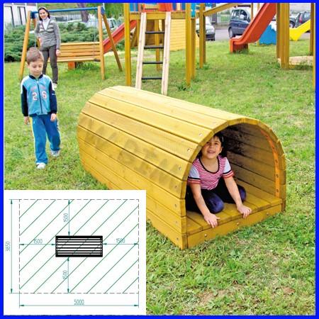Tunnel tronchetto legno 85x200x75h conforme uni en 1176
