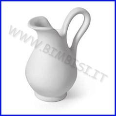 Ceramica biscotto brocchetta c/manico cm.13,5h