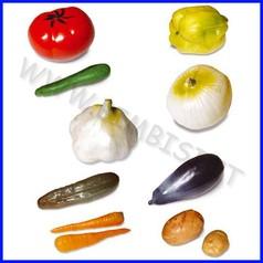 Alimenti in plastica verdura set 11 pz
