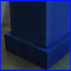 Protezione di sicurezza su misura in eva sp.10mm con accoppiamento in legno 18mm
