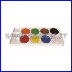 Acquerello 8 maxi pastiglie + tavolozza colori assortiti