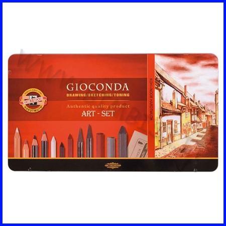 Set artisti gioconda - 39 accessori - scatola metallo