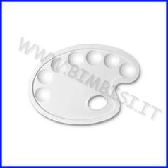 Tavolozza plastica cm 24x17 ovale