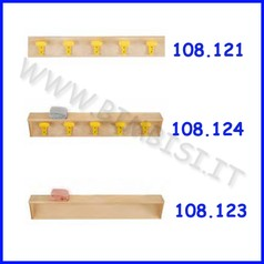 Fascia con mensola + 5 appendiabiti 100x18x18