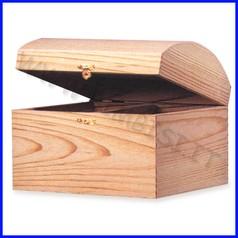 Supporti in legno: scatoletta c/chiusura cm 14x9x8