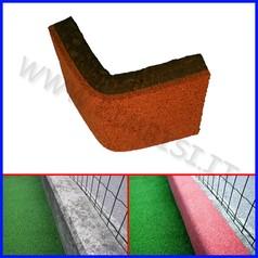 Paraspigolo in gomma rosso da esterno barra cm 98x20x2.5