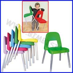 Sedie piuma h31 cm 12 sedie rosso-verde- blu - giallo - offerta speciale