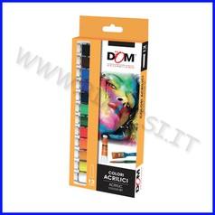 Colori acrilici 12 tubi ml.12 colori ass
