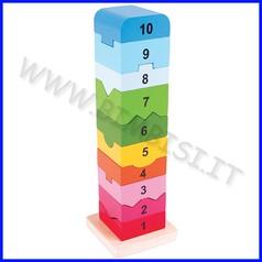 Gioco in legno torre dei numeri