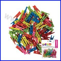 Mollette in legno mm.25 - 45 pz. - colori neon