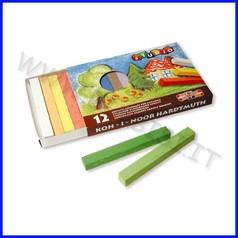Gessi quadrati per lavagna - scatola 12 pezzi - colori assortiti