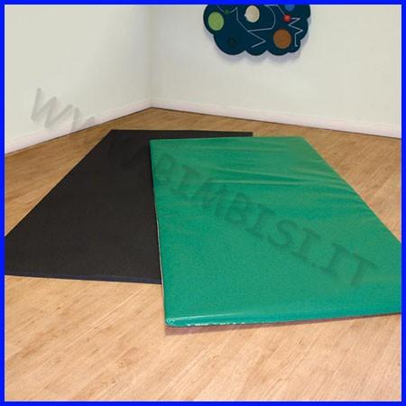 Tappeto multifunzione cm.101x101x2,2 h bicolore verde/rosa