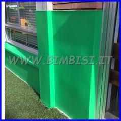Protezione murale evawall verde lastra 150x100 sp.1 cm ignifuga