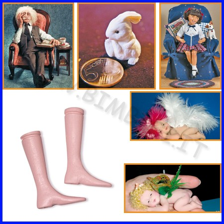 Prosculpt: strutture per piedi bambole conf. 2 pz fino ad esaurimento