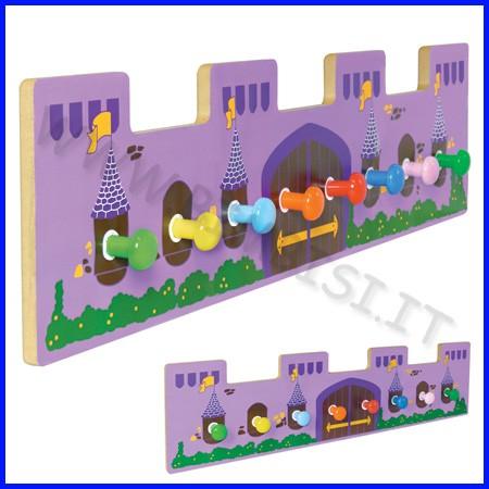 Appendiabiti castello 8 posti