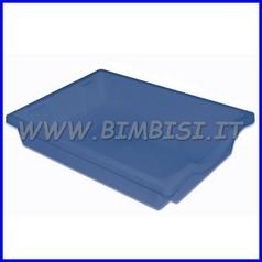 Contenitore basso cm.43x31,5x7,5h - blu