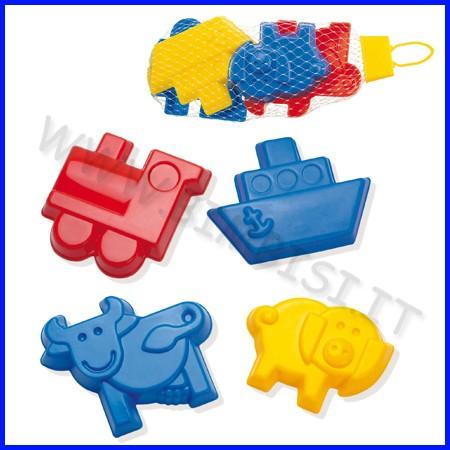 Formine varie in plastica - set 4 pz.