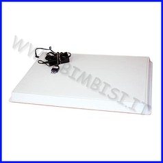 Tavolo luminoso embossing c/led cm.64x45