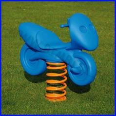 Gioco a molla moto blu polietilene