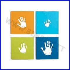Quadro quattro impronte su tela