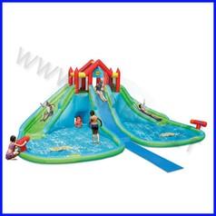 Castello gonfiabile happyhop gigante acquatico dim.cm 760x600+150x325