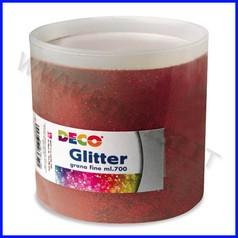 Glitter grana fine barattolo gr 700 rosso