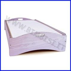 Lettino impilabile in mdf lilla smontato cm.126x66x30 linea simply