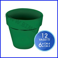 Vasetto color verde - set 12 pz. - misure assortite