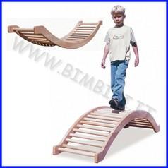 Attrezzi ginnici legno maxi bilico ponte cm 170x45x36h