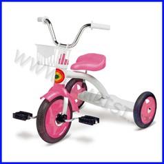 Triciclo monoposto 52x67x56h cm peso:5 kg - col.bianco/rosa fino ad esau