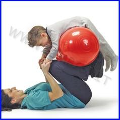 Palla riabilitativa phisio roll rossa diam.40x65 cm