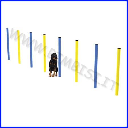 Dog slalom