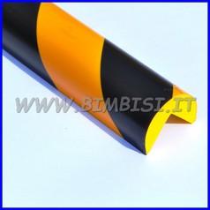Paraspigolo in poliuretano a righe giallo/nere barra h100 spigoli 90°