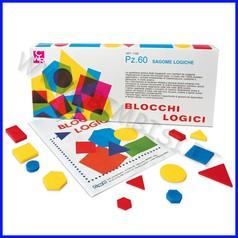 Blocchi logici medi/piccoli scatola 60pz