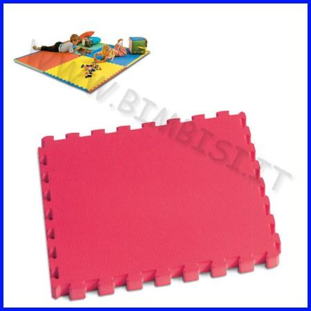 Mattonella in eva 50x50 sp.1 cm rosso con bordi