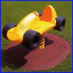 Pavimentazione antitrauma gioco a molla 150x120 spessore4.5cm assorb.caduta h150