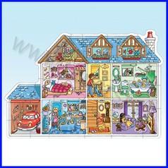 Puzzle cartone - casa delle bambole