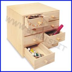 Supporti in legno:cassettiera 8 cassetti cm.20x19,3x20h fino ad esaurimento
