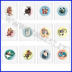 Stampi a rilievo per colata zodiaco16x16 cf 12 pz 1 stampo per segno