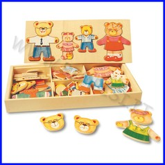 Puzzle legno famiglia degli orsetti