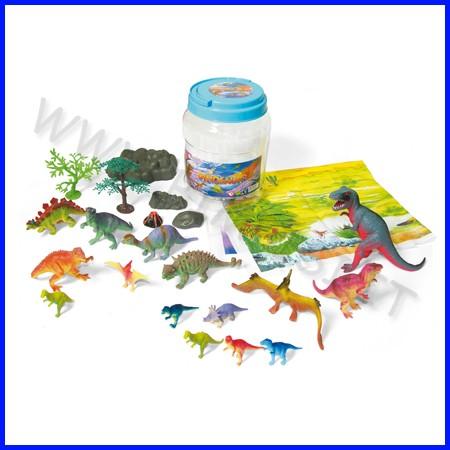 Animali dinosauri conf.20 pz 3/17cm fino ad esaurimento